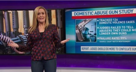 Samantha Bee takes a hard look at domestic violence & guns – and uses Court Watch's study to do it