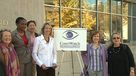Court Watch volunteers, domestic violence prevention, courts